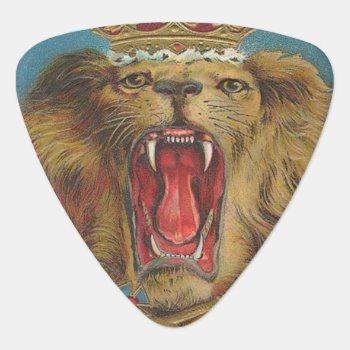 Vintage Lion King Of The Beasts Guitar Pick by customguitarpicks at Zazzle