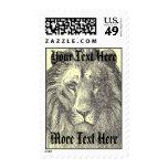 Vintage Lion Postage