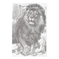 Vintage Lion Stationery
