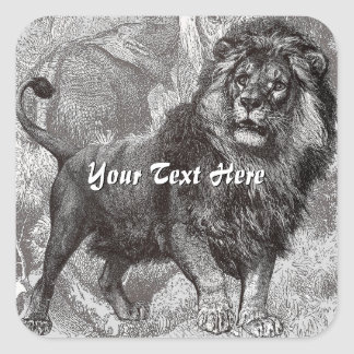 Vintage Lion Stickers