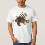 Vintage Lionfish Fish, Marine Ocean Life Animal T-Shirt