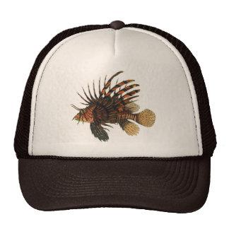 Vintage Lionfish Fish, Marine Ocean Life Animal Trucker Hat