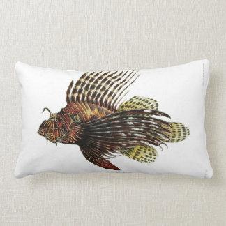 Vintage Lionfish Lumbar Pillow