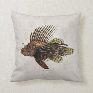 Vintage Lionfish Pillow
