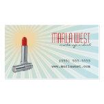 Vintage Lipstick Retro Makeup Artist Business Card