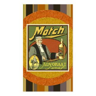 Vintage Liquor Business Card
