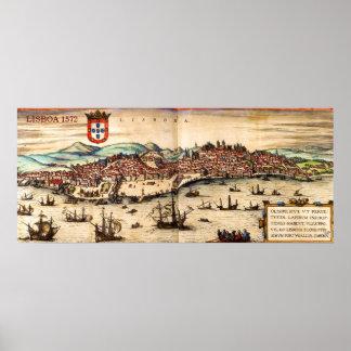 Vintage Lisbon 1572 Poster