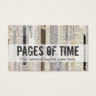 Vintage Literature Book Ephemera - Pages Of Time Business Card