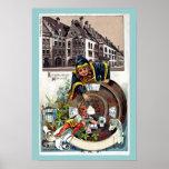 Vintage Litho 1905 Hofbrauhaus Munich Posters