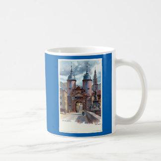 Vintage Litho Heidelberg Old Bridge Gate Coffee Mug