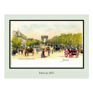 Vintage litho Paris in 1897 4 of 6 Postcards