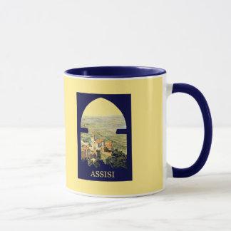 Vintage Litho Travel ad Assisi Italy Mug