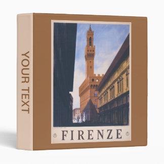 Vintage Litho Travel ad Florence Italy 3 Ring Binder