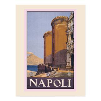Vintage Litho Travel ad Naples Italy Postcard