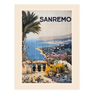 Vintage Litho Travel ad Sanremo Italy Postcard