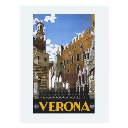 Vintage Litho Travel ad Verona Italy Postcards