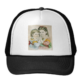 Vintage Lithograph of Two Sisters Trucker Hat