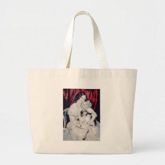 Vintage Lithograph Portrait Jumbo Tote Bag