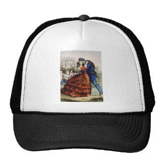 Vintage Lithograph Soldier Returns Home Trucker Hat