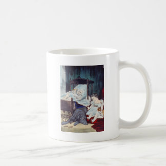 vintage Lithograph with Children Coffee Mug