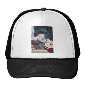 vintage Lithograph with Children Trucker Hat