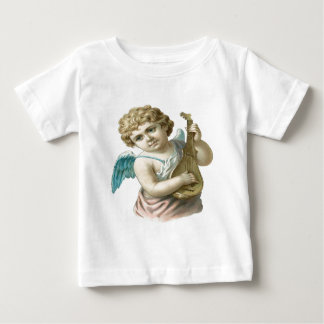 Vintage, Little Angel Playing Guitar Baby T-Shirt