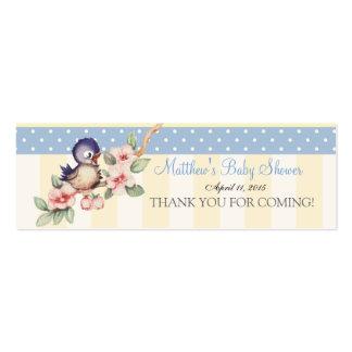 Vintage Little Bird Baby Shower Custom Favor Tag Mini Business Card
