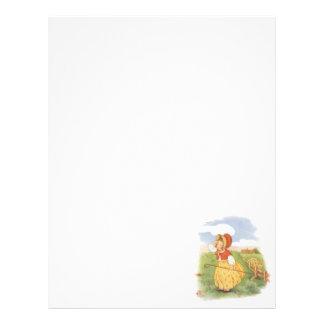 Vintage Little Bo Peep Mother Goose Nursery Rhyme Letterhead
