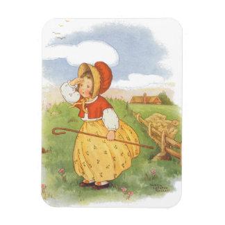 Vintage Little Bo Peep Mother Goose Nursery Rhyme Magnet