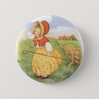 Vintage Little Bo Peep Mother Goose Nursery Rhyme Pinback Button
