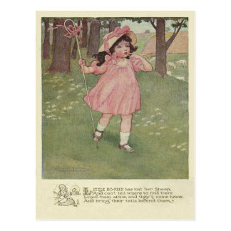 Vintage Little Bo Peep Postcard