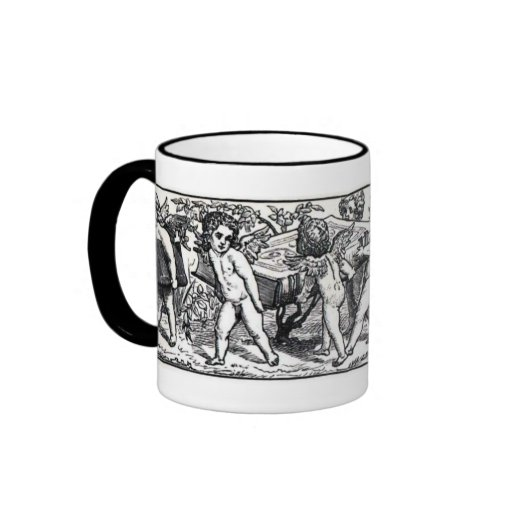 Vintage Little Book Carrying Cherubs Bookmark Ringer Coffee Mug
