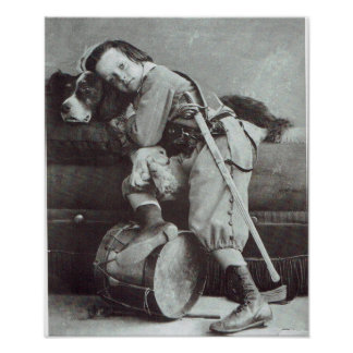 Vintage Little Boy And His Dog Poster
