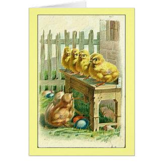 Vintage Little Chicks Easter Greeting Greeting Card