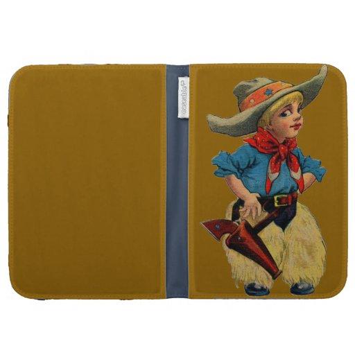 Vintage Little Cowboy Kindle Cover
