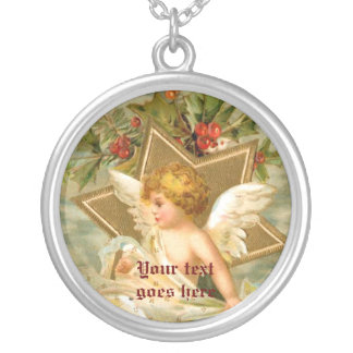 Vintage little cute Christmas angel and star Pendants