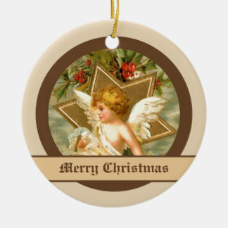 Vintage little cute Christmas angel and star Ornament