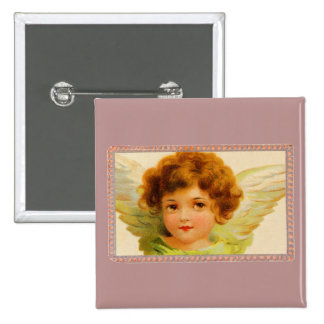 Vintage Little Girl Angel in Frame Pin
