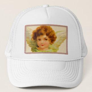 Vintage Little Girl Angel in Frame Trucker Hat