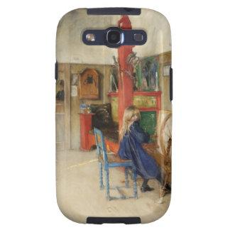 Vintage Little Girl at Spinning Wheel Samsung Galaxy S3 Case