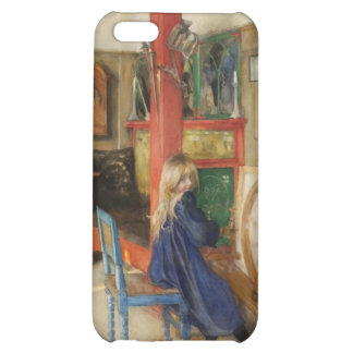 Vintage Little Girl at Spinning Wheel iPhone 5C Cases