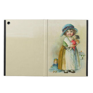 Vintage Little Girl Chubby Cheeks Hat Dolls Cover For iPad Air
