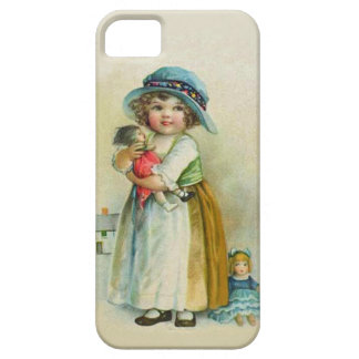 Vintage Little Girl Chubby Cheeks Hat Dolls iPhone SE/5/5s Case