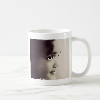 Vintage Little Girl Classic White Coffee Mug