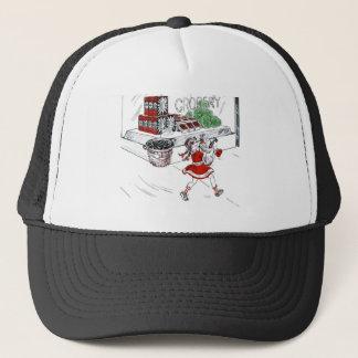 Vintage Little Girl Grocery Shopping Trucker Hat