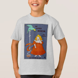 Vintage little girl, parrot, cookies ad, Leonetto T-Shirt