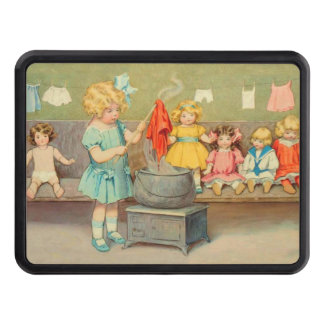 Vintage Little Girl Playing With Dolls Tow Hitch Cover