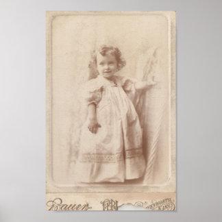 Vintage Little Girl Poster