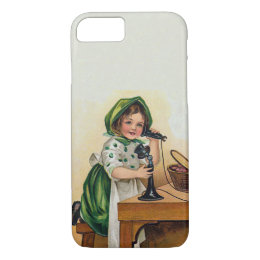 Vintage Little Girl St. Patrick's Day iPhone 8/7 Case
