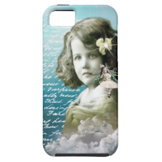 Vintage little girl with guardian angel iPhone 5 case